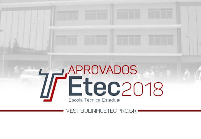 Aprovados ETEC 2018