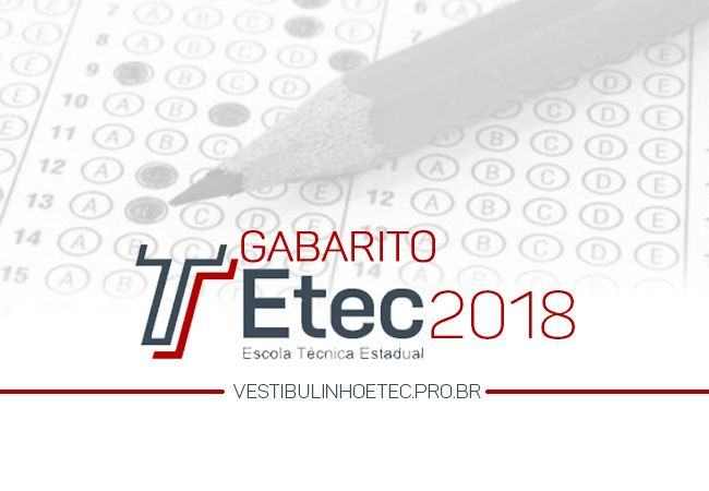 Gabarito ETEC 2018