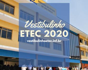 Vestibulinho ETEC 2020