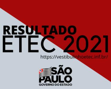 Resultado ETEC 2021