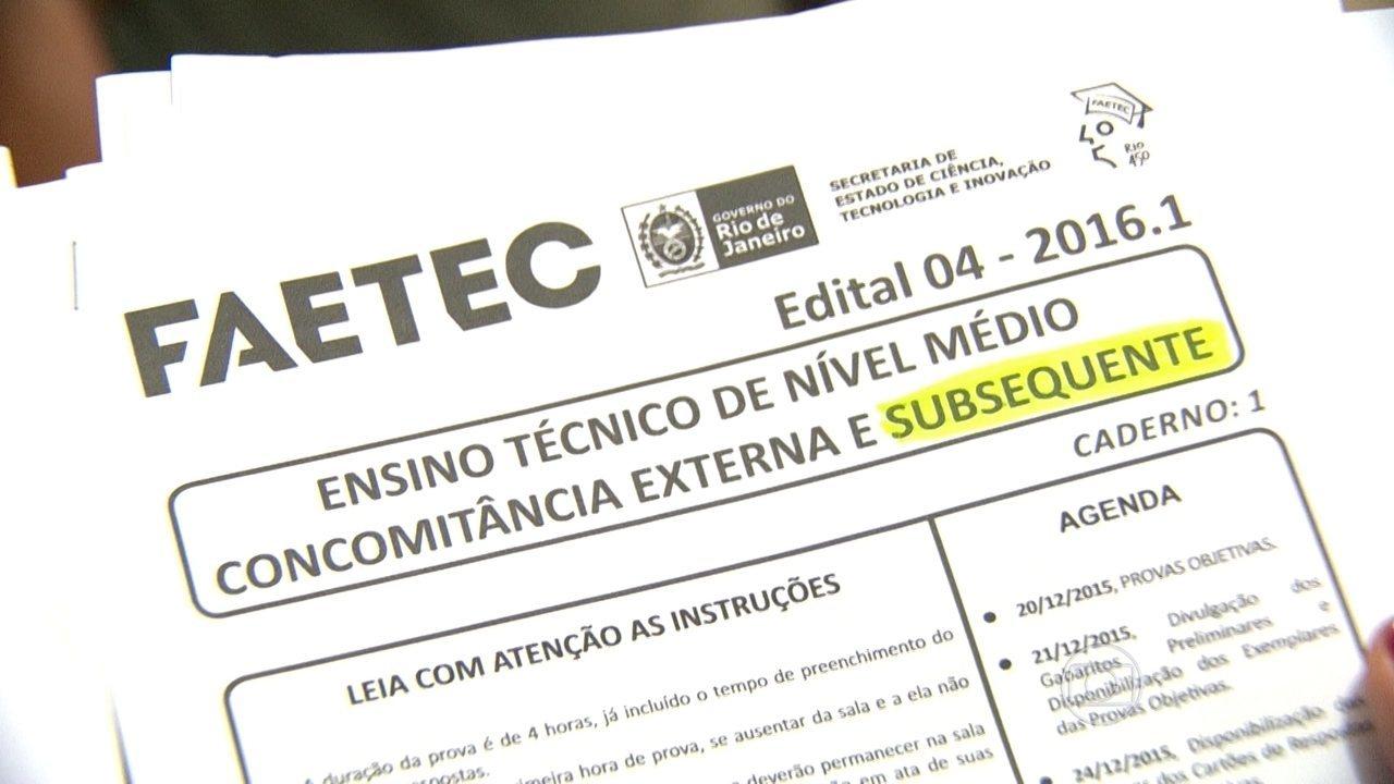 FAETEC Inscrições 2021